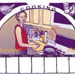 Illustration of cooking and food for Crafts Calendar
