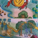 Wizard of Oz Mural for a child's bedroom