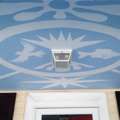 Porch ceiling mural by Ellen Hamilton