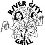 River City logo. Drawing of people having fun.