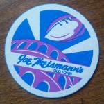 Coaster design for Joe Theismann's restaurant in old town Alexandria